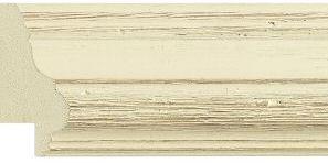 Frame 6 : 45mm wide distressed look ivory coloured frame.