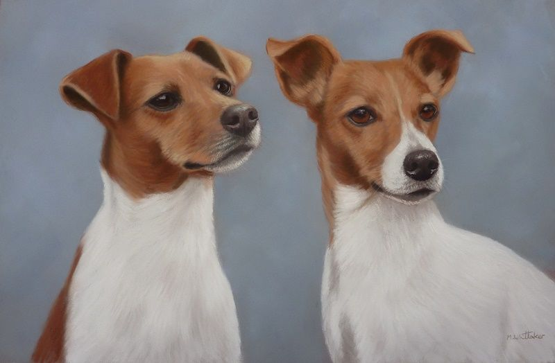 Original Pastel Painting of Millie & Penny.