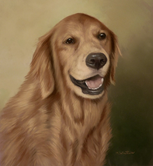 Original Pastel Painting Of Sparky.