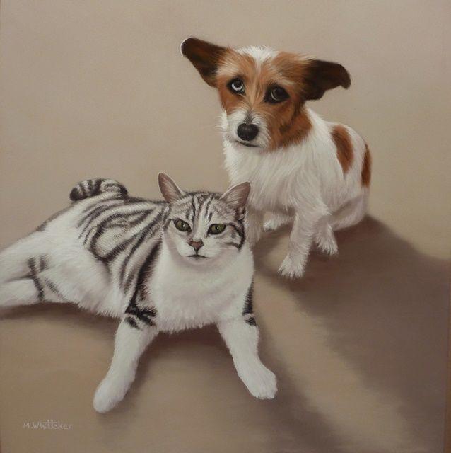 Original Pastel Painting of Sophie & Silvie.