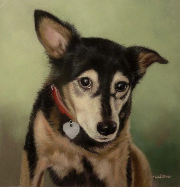 Original Pastel Painting of Fudge.