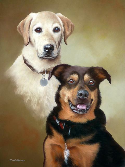 Pastel Portrait Of Jess & Roxy