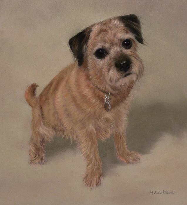 Original Pastel Painting of Mia.