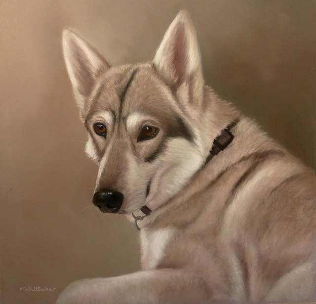 Original Pastel Painting of Honey The British Timber Dog