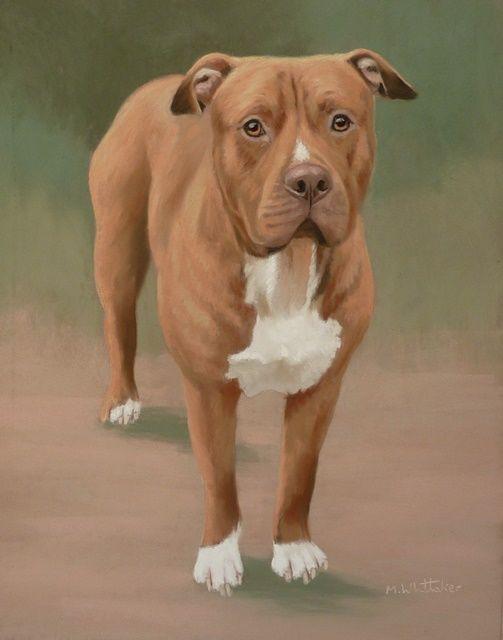 Original Pastel Painting of Eric The American Bulldog
