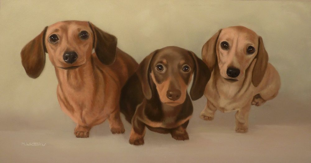 Original Pastel Painting of Poppy, Primrose & Percy.
