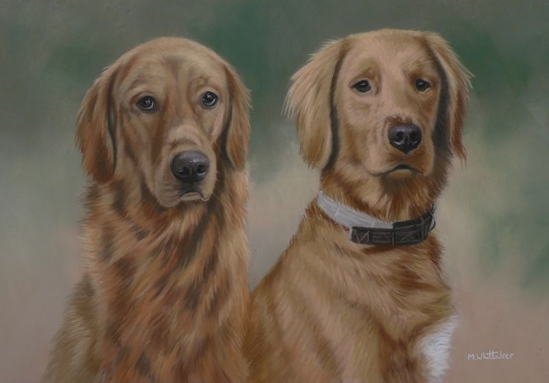 Original Pastel Painting of Gunner & Jack