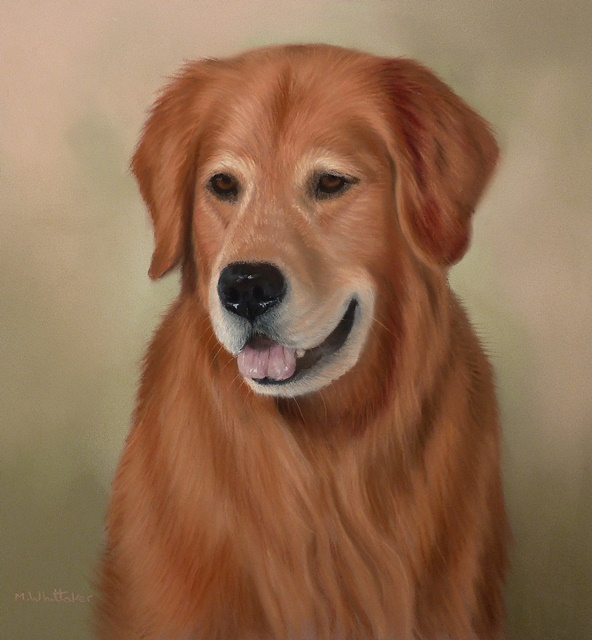 Original Pastel Painting Of Riley