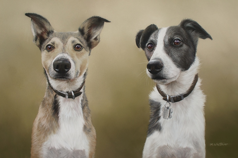 Original Pastel Painting Of Frasier & Riley