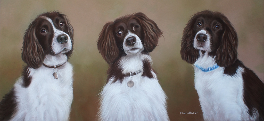 Original Pastel Painting Of Rufus,Tilly & Kipper