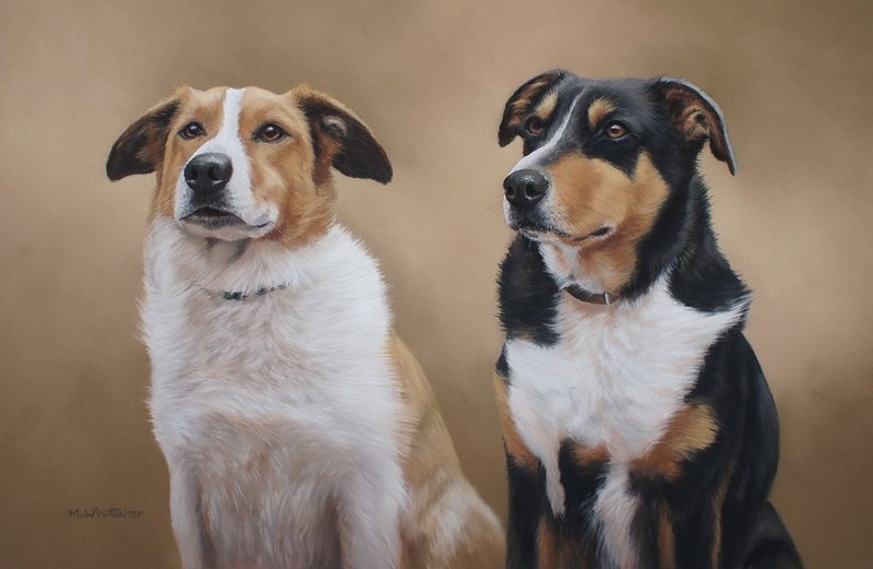 Original Pastel Painting Of Pip & Ned