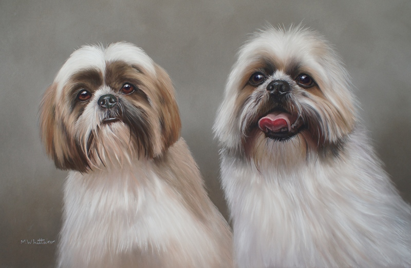 Original Pastel Painting Of Harry & Charlie