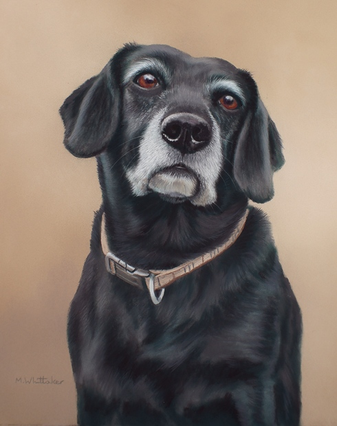 Original Pastel Painting Of Tess