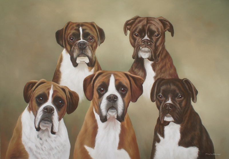 Original Pastel Painting Of Benson Louis Scooby Scrappy & Buster