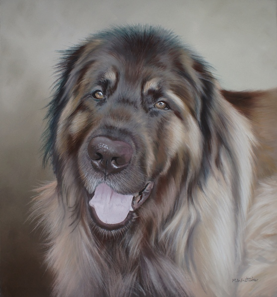 Original Pastel Painting Of Taran, Leonberger