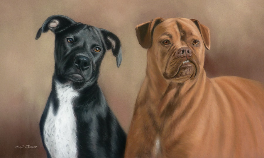 Original Pastel Painting Of Iris & Hazel