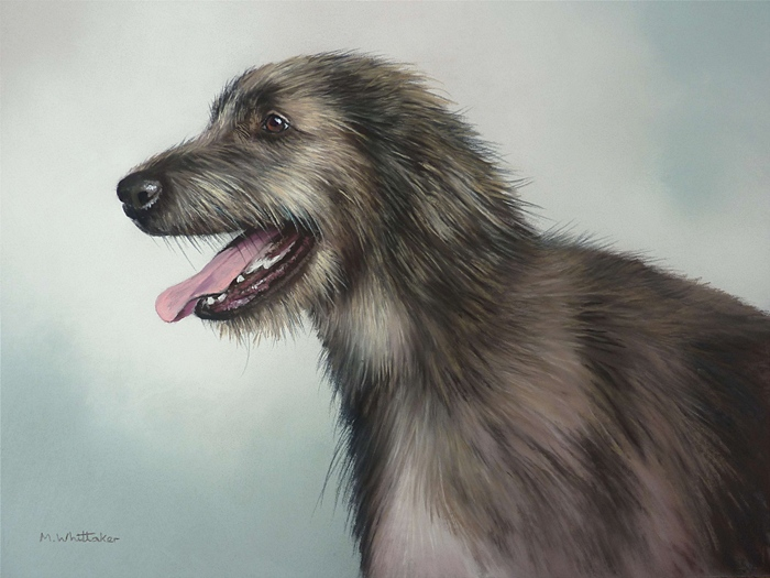 Original Pastel Painting Of Irish Wolfhound