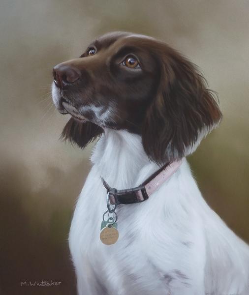 Original Pastel Painting Of Freya