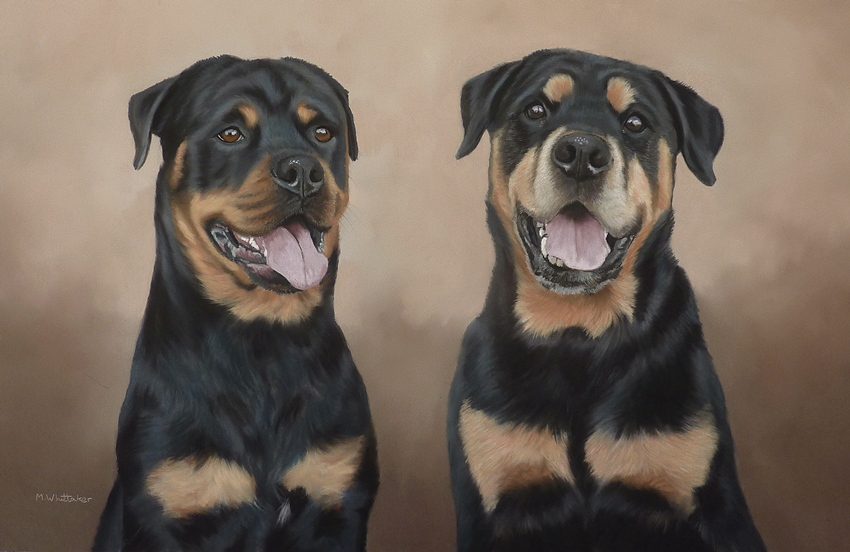 Original Pastel Painting Of Seren & Frank