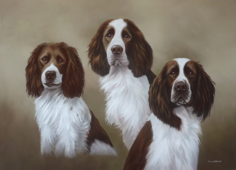 Original Pastel Painting Of Scamp, Gemma & Roly