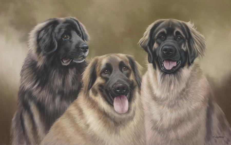 Original Pastel Painting Of Heiki, Keila & Pia