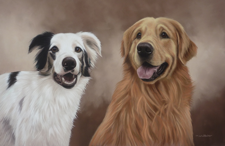 Original Pastel Painting Of Eva & Caradog