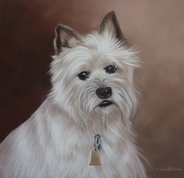 Original Pastel Painting Of Cesar