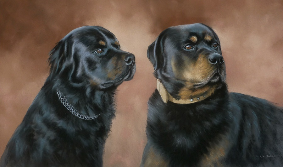 Original Pastel Painting Of Frankie & Bryson