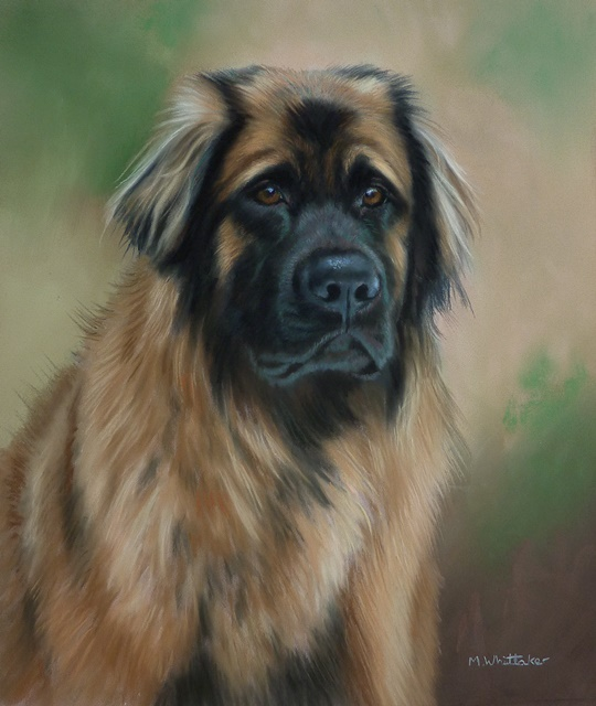 Original Pastel Painting Of Blue.