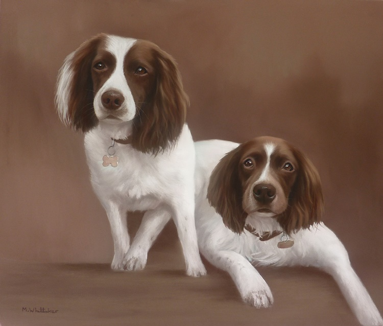 Original Pastel Painting Of Skye & Starr.