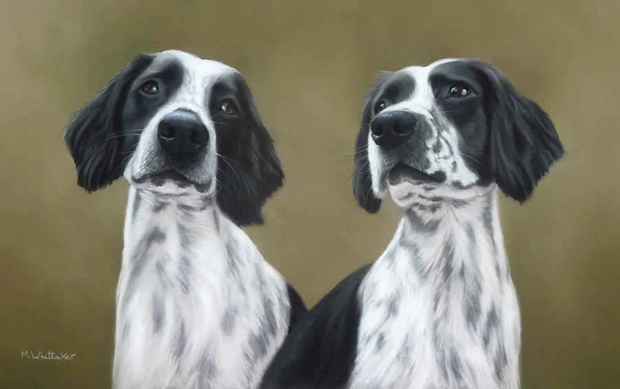 Original Pastel painting of Wilf & Diggle