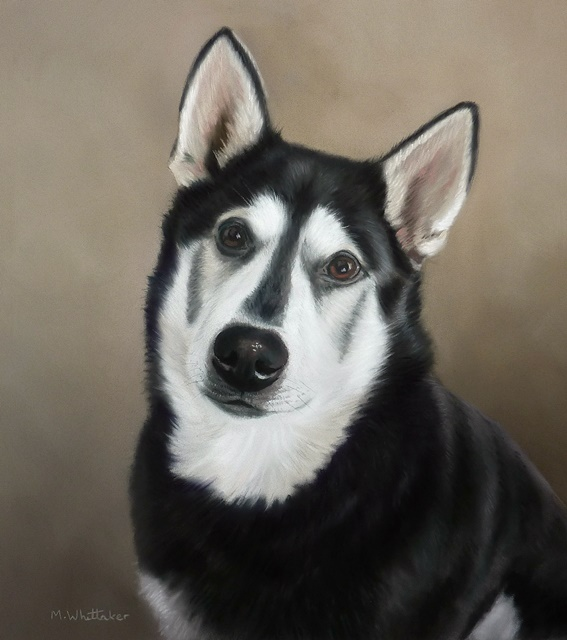 Original Pastel Painting Of Kasskae The Northern Inuit