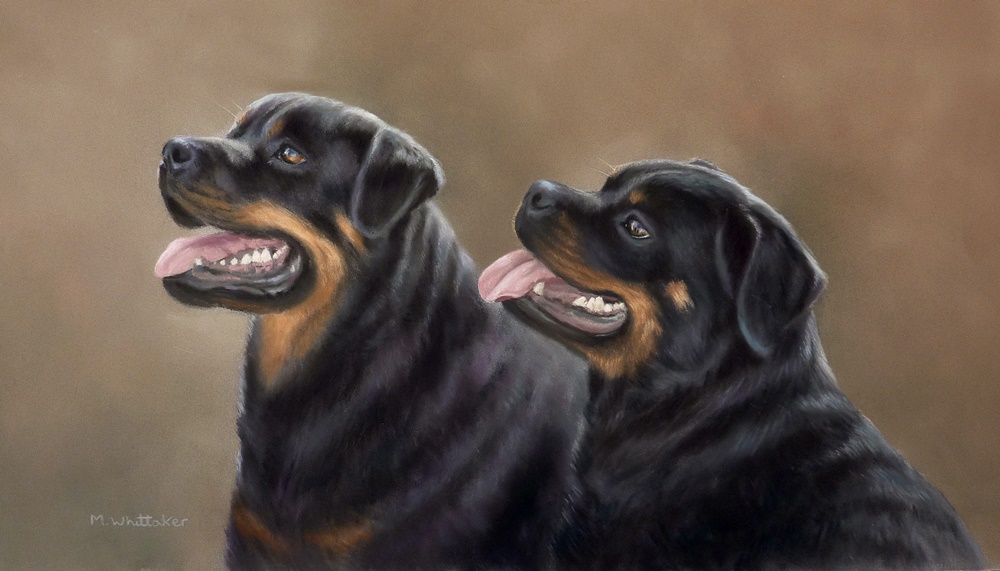 Original Pastel Painting Of Louie & Lola.