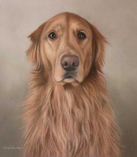 Original Pastel Painting Of Riley