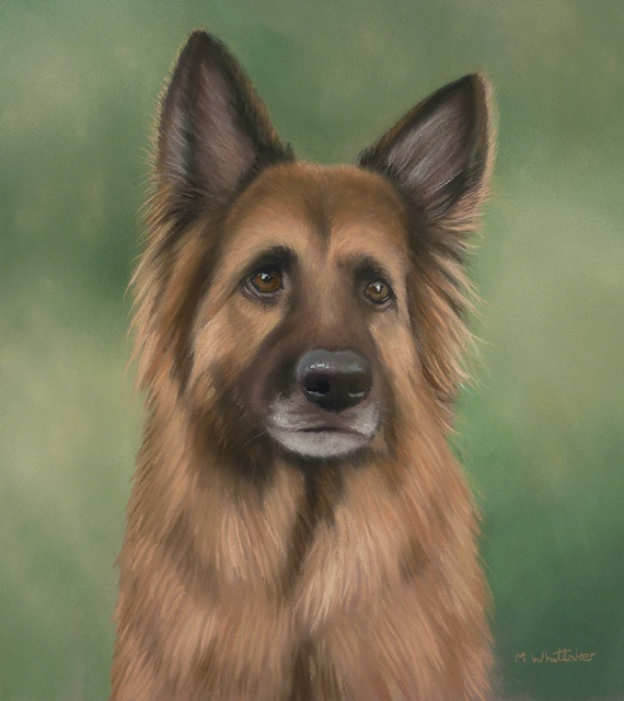 Original Pastel Painting Of Miller