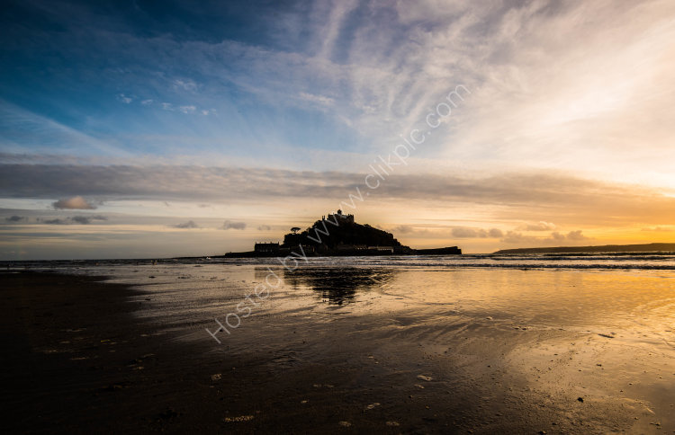 Changing colours at St Michael's Mount