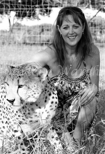 Marlene with a Cheetah, South Africa 2013