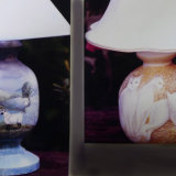 Hand Painted Wooden Table Lamp Bases