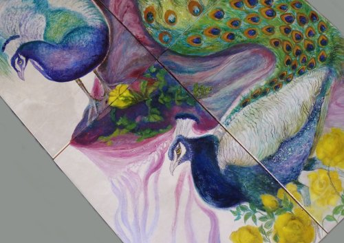 Peacocks Sold (Detail 1)