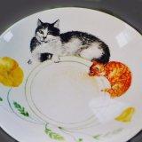 Hand Painted Cat onto a Fine Bone China Bowl