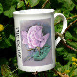 """English Garden Flowers"" Printed mug taken from painting"