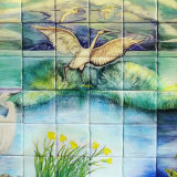 Little Egrets Hand Painted Tiles