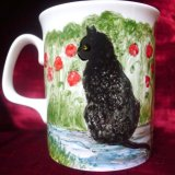 Reverse of Mug - Send a Photo of Your Cat - A Unique Gift - Prices  £30-£50.
