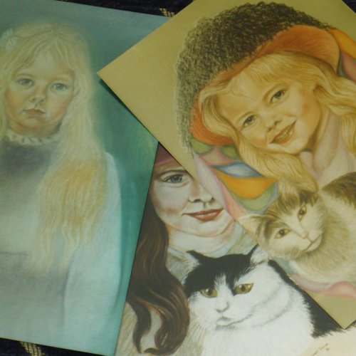 Pastel Portraits of Family and Friends