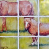 (Detail of Horses from Mural)
