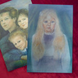Photographs of Pastel Drawings