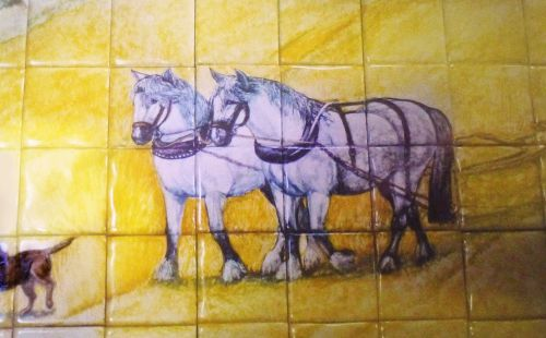 If you would like to commission a Mural (detail of horses from mural)