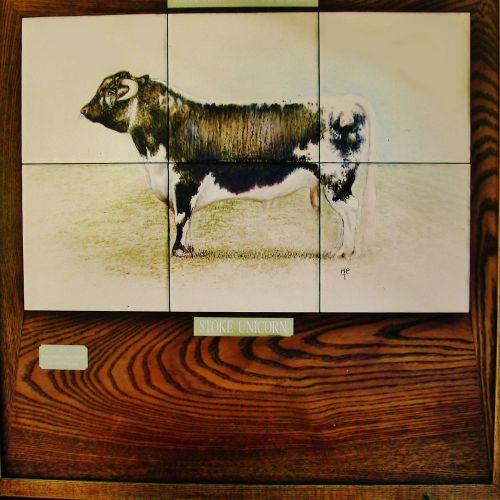 Farm and Countryside Tiles. Unique Longhorn trophy plaque