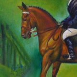 Oil Painting of  Horse and Rider (detail from former commission)