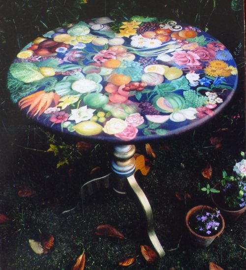 Hand Painted Furniture. Art on Wood